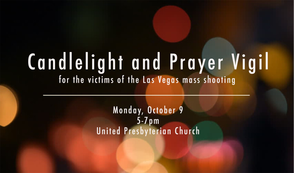 Candlelight and Prayer Service for Las Vegas Shooting